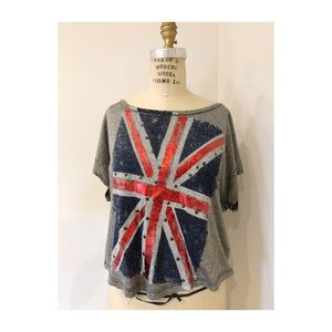Delias Union Jack grey Short sleeve shirt